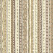 Doodle Days by Makower UK - 5475 -Taupe & Beige Patterned Stripe - 1877_Q - Cotton Fabric